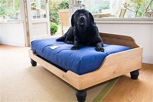 wooden dog bed frame in solid english oak With dog beds with frame and mattress