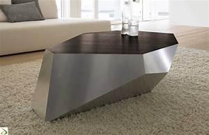 Tavolino da salotto in legno e alluminio Diamante Arredo Design Online