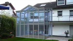 zweigeschossiger wintergarten sunshine wintergarten gmbh With garten planen mit balkon zum wintergarten umbauen