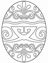 Easter Egg Coloring Geometric sketch template