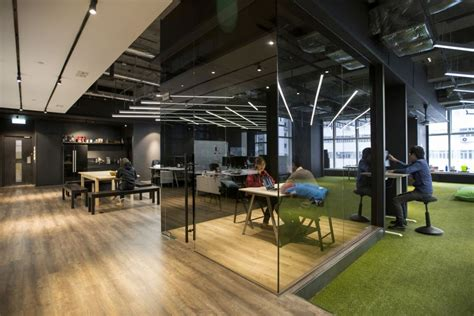 black appliances kitchen ideas hong kong warehouse converted to creative office space