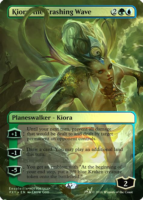 Kiora The Crashing Wave Duel Deck by Sorin Markov With Sword Spill Magic The Gathering