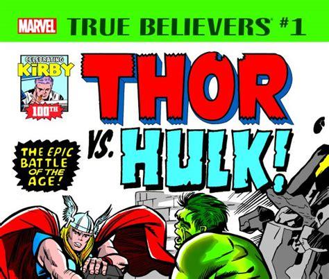 True Believers: Kirby 100th - Thor Vs. Hulk (2017) #1 ...