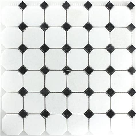 fliesen schachbrett schwarz weiss marmor mosaik naturstein fliese octagon schwarz weiss poliert ebay