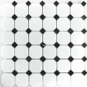 Fliesen Schwarz Weiß : marmor mosaik naturstein fliese octagon schwarz weiss poliert ebay ~ A.2002-acura-tl-radio.info Haus und Dekorationen