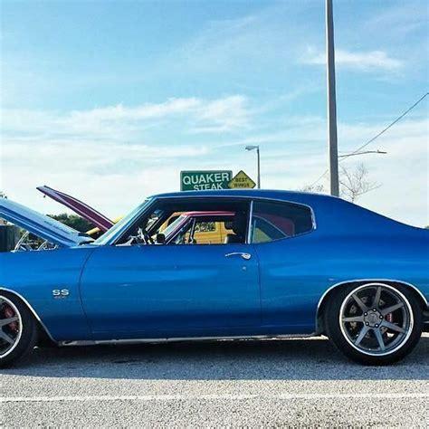 chevelle blue  white multi spoke concave wheels pro