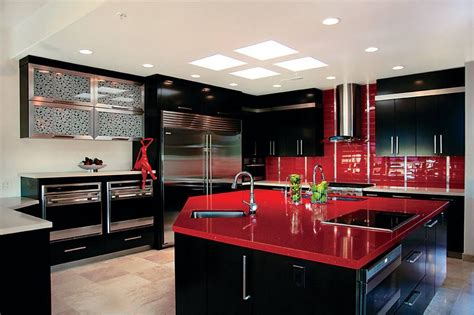 Red Black Color Scheme Home Decorating Trend Homedit Modern Kitchen Paint Colors With Oak Cabinets