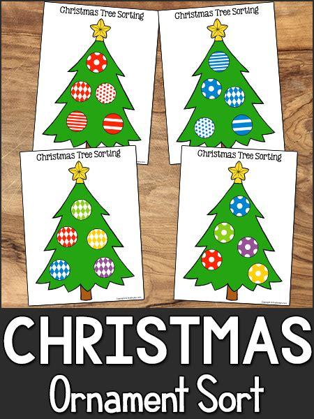 christmas sorting printable  pre  preschool math