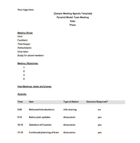meeting schedule template 18 meeting schedule templates doc excel pdf free premium templates