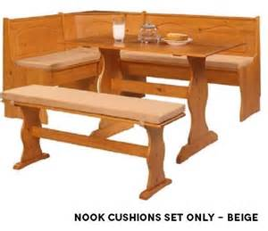 new breakfast nook cushions set bench seat corner dining