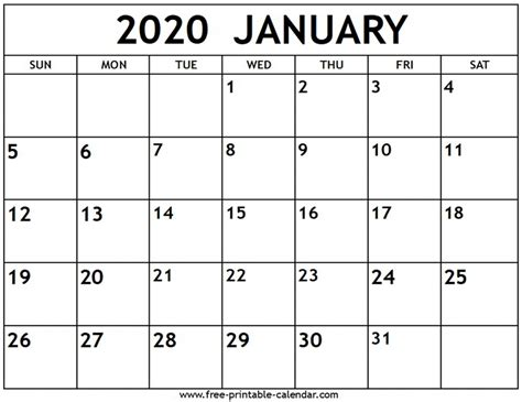 calendar jan  printable  letter templates