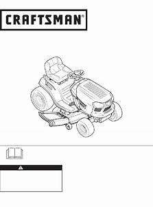 Craftsman T1400 247 203734 Lawn Mower Operator U0026 39 S Manual