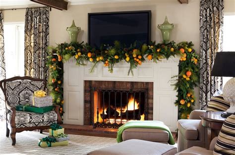 fireplace garlands mantel decor inspiration