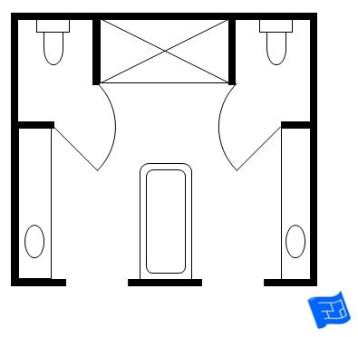 floor plans his and bathrooms master bathroom floor plans