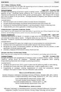 network engineer resume exles network engineer resume exle
