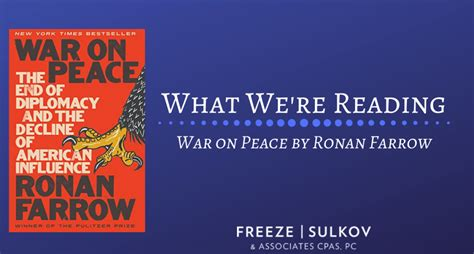 peace war ronan farrow game reading matter named pick know where things two