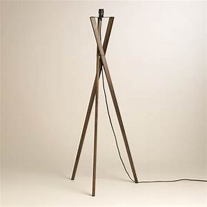 Decor awesome tripod lamp for interior lighting ideas for Wooden tripod floor lamp ireland