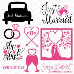 wedding invitations kits svg dxf just married wedding cuttables by sonya dehart