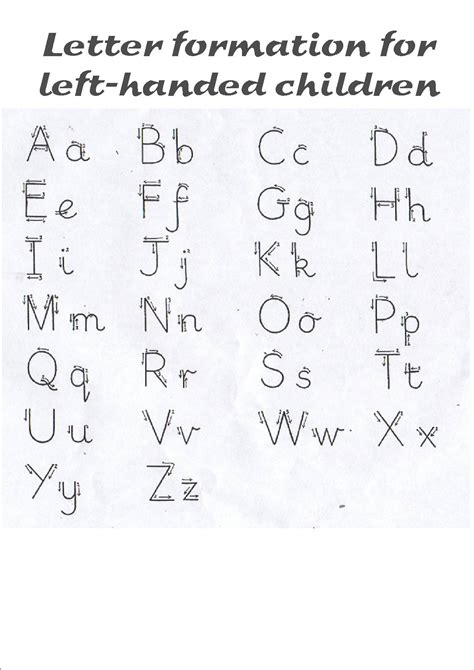 letter formation left handed    case
