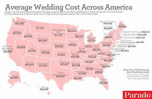 the average cost of a wedding in each region of the us With how much is the average wedding