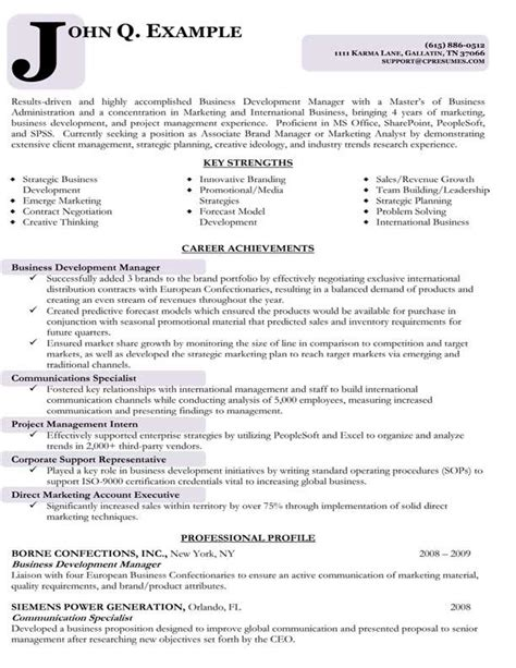 targeted resume template targeted resume sle best professional resumes letters templates for free