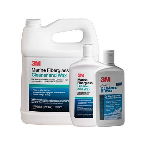 Boat Wax Clean by 3m Marine Fiberglass Cleaner And Wax Tackledirect