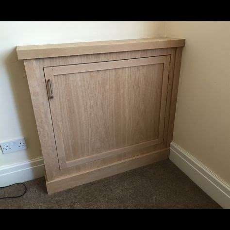 Electric Meter Cupboard by Electricity Meter And Consumer Unit Cupboard In White Oak