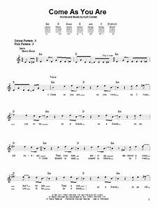 Come As You Are Sheet Music By Nirvana Easy Guitar 22726