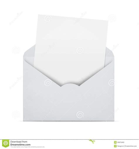 blank letter blank letter in an envelope stock photo image of package path 29876460