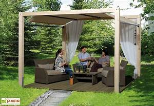 tonnelle bois oasis jardin siesta weka With tonnelle en bois pour jardin