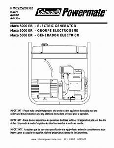 Coleman Powermate 5000 Parts Diagram
