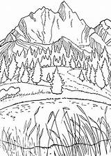 Lake Coloring Pages sketch template