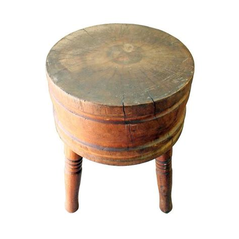 Primitive Round Butcher Block At 1stdibs