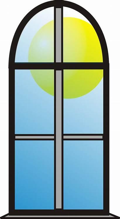 Window Cartoon Clipart Sun Cliparts Library Clip