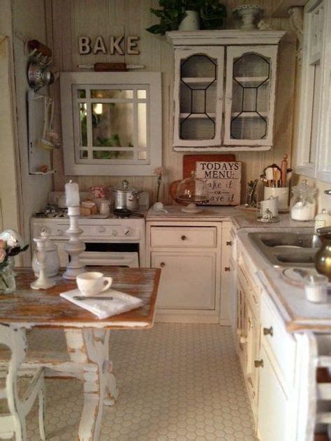 shabby chic miniature kitchen  chic kitchen decor