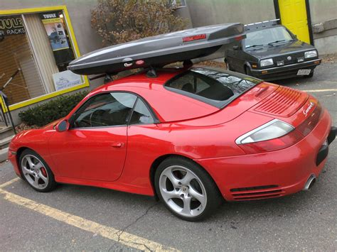 porsche box porsche 911 carrera c4s 996 custom roof rack cargo box