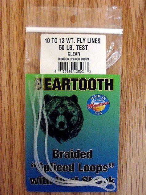 beartooth braided loops  lb clear  lb  beartooth