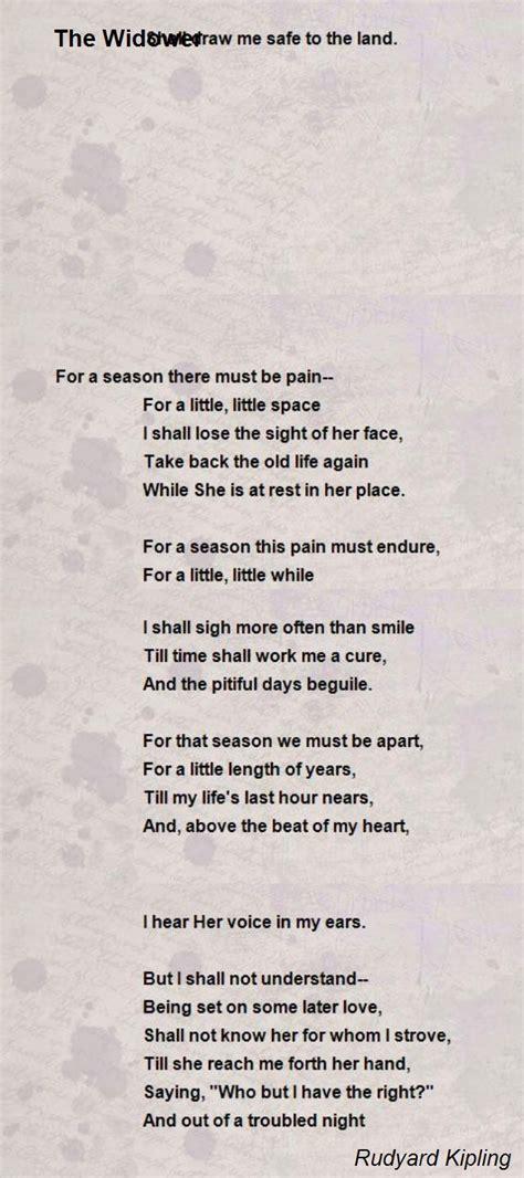 widower poem  rudyard kipling poem hunter