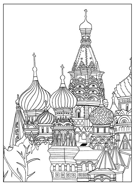 buildings coloring pages coloring home