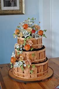 Bushel Basket Of Flowers - CakeCentral com