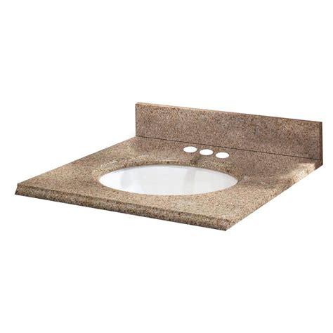 19 inch bathroom vanity top pegasus 25 inch w x 19 inch d granite vanity top in beige