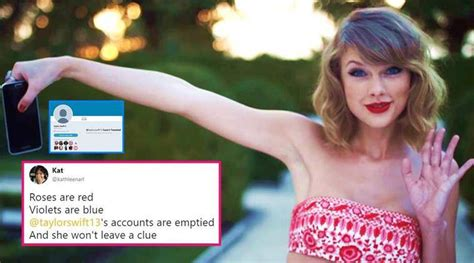 Taylor Swift's social media pages are showing a 'blank ...