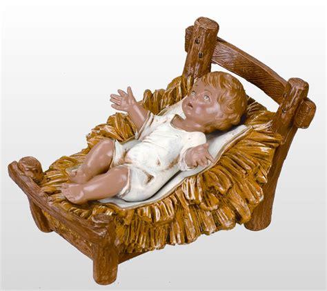 jesus christmas crib statue set buy fontanini infant baby jesus in crib nativity statue 12 inch scale fontanini all 72913