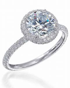 Round cut diamond engagement rings martha stewart weddings for Circle wedding rings