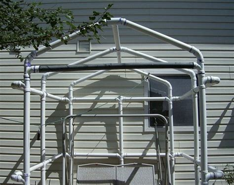 pvc gazebo greenhouse frame  backyard sitting