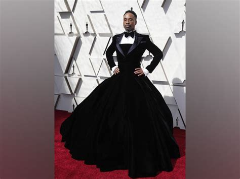 Oscars Billy Porter Sports Christian Siriano Tuxedo Gown