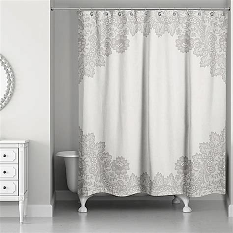 lace shower curtain designs direct brown lace shower curtain bed bath beyond