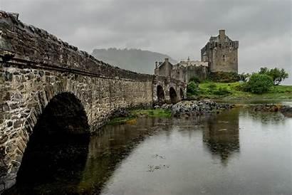 Castle Eilean Donan Bridge Scotland Desktop Background