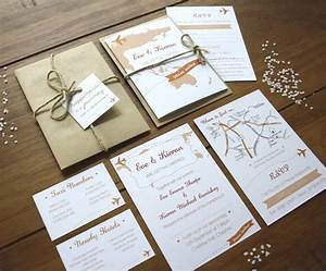 travel booklet wedding invitations by rodo creative With wedding invitation photo booklet