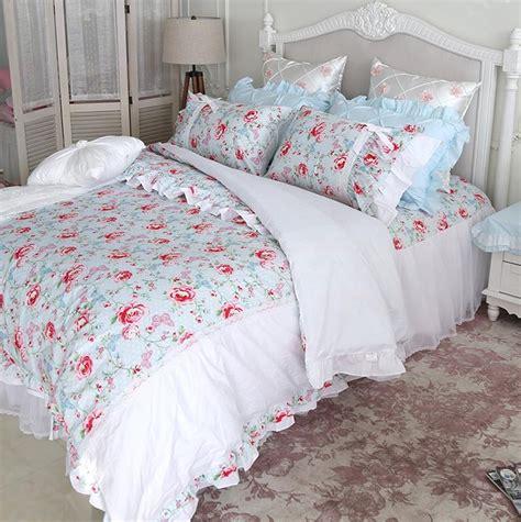 shabby chic duvet covers princess shabby chic floral blue white duvet comforter